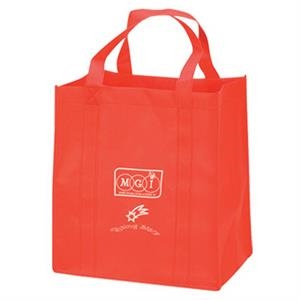 "Non Woven Shopping Tote Bag With Wide 8"" Gusset And Dual Shoulder Straps"