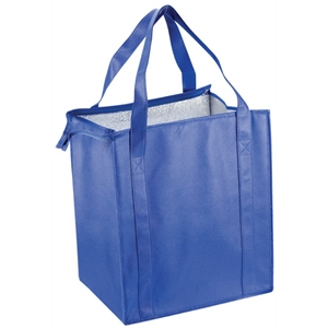 "Bag With Silver Foil Insulation Lining, Foam Padding, Deep Gusset, And 20"" Straps"