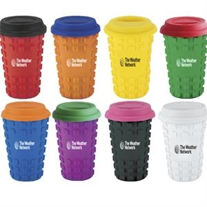 16 oz Sili Square Ceramic Tumbler	w/fun pegs