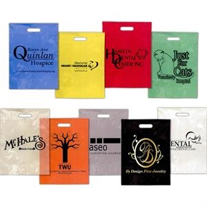 "9"" X 12"" - Full Color Low Minimum, Low Density Polyethylene Colored Plastic Grab Bag"
