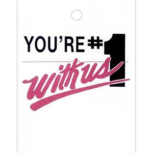 "You're Number One With Us In Black And Maroon - Stock Design Single Wall 9"" X 12"" Litter Bag, Customer Appreciation Theme"