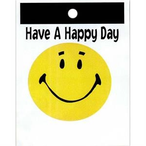 "Have A Happy Day With Yellow Happy Face - Stock Design Single Wall 9"" X 12"" Litter Bag With Happiness Theme"