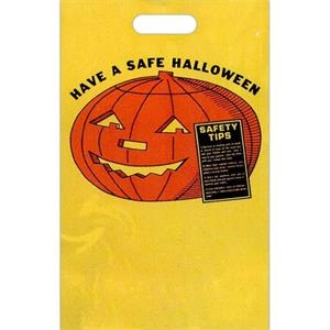 Have A Safe Halloween With Pumpkin. - Halloween Plastic Bag With Perforated Tear Off Coupon At Bottom Of Bag