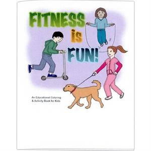 Fitness Is Fun! - Educational Coloring Book With Health Theme, 8 Pages