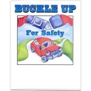 Buckle Up For Safety - Prevention And Safety Coloring Activity Book With 8 Pages