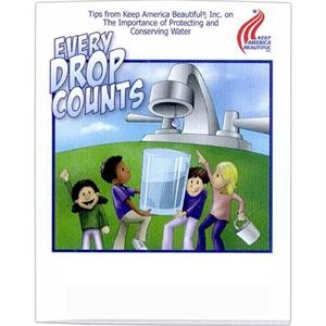 Every Drop Counts - Coloring And Activity Book With Environmental Theme, 8 Pages