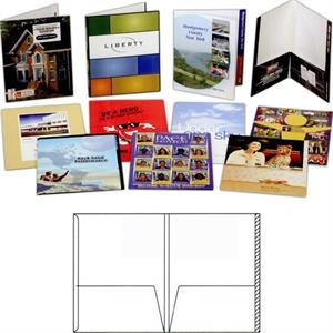 1 Color - Gloss Finish Presentation Folder With 2 Pockets, File Tab And Double Scored Spine