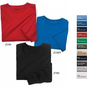 S- X L - Long Sleeve T-shirt, 70% Combed Cotton, 30% Polyester