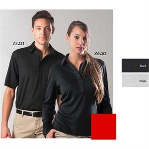 Oxford - 2 X L - Polo Short Sleeve Syntrel(tm) Coolmax Dress Polo With Button Down Collar