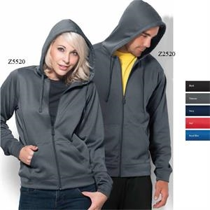 Competition-w -  X S- X L - Women's Hooded Full Zip Performance Fleece Sweatshirt
