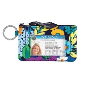 Vera Bradley - Bittersweet - Case With Key Ring, Front Id Window Plus Interior Compartment For Cards/cash. Blank