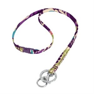 Breakaway;vera Bradley - Plum Crazy - Lanyard With Breakaway Push-buckle And Signature Ring Keeps Keys Safe. Blank