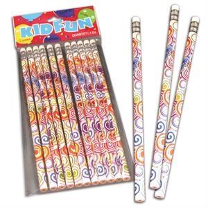 Psychedelic Tie Dye Pencils