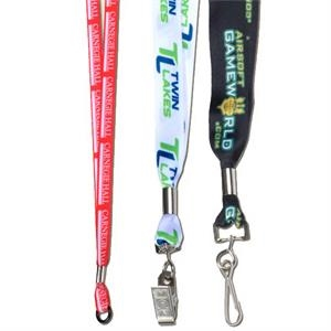 "Sublimated Lanyard With A Metal Crimp, 1/2"" Width"