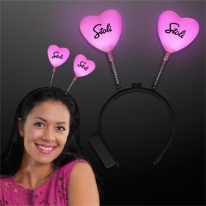 Pink heart light-up head boppers