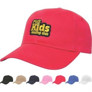 Value Series - Youth Light Weight Low Profile Six Panel Structured Cap With Two Piece Velcro
