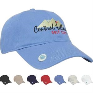 Golf And Resort Collection - Medium Profile Six Panel Unstructured Ball Marker Cap