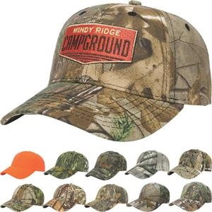 Camouflage Series - Medium Profile Six Panel Camouflage Structured Twill Cap With Two Piece Velcro