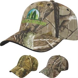 Camouflage Series - Medium Profile Six Panel Two Tone Camouflage Twill Cap