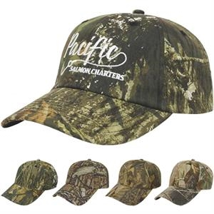 Camouflage Series - Medium Profile Six Panel Camouflage Unstructured Twill Cap With Two Piece Velcro