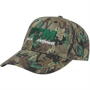 Camouflage Series - Medium Profile 6 Panel Structured Cap. Fabric Strap With Two Piece Velcro