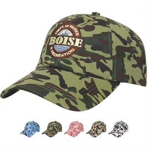 Camouflage Series - Low Profile Six Panel Camouflage Unstructured Twill Cap