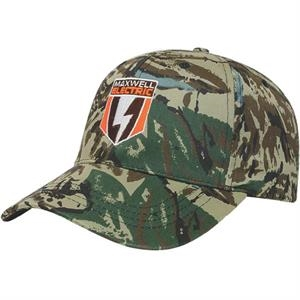Camouflage Series - Silencer Pattern 6 Panel Structured Camo Cap. Medium Profile