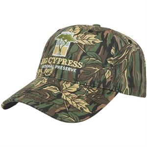 Camouflage Series - Forest Pattern 6 Panel Structured Camo Cap. Medium Profile