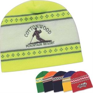 Usa Knit Series - Silkscreen - Contemporary Style Jacquard Knit Cap