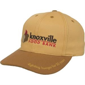 Made In The Usa Series - Medium Profile Structured Cap Featuring 6 Panels And Buckram Reinforced Front Panel