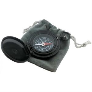 Deluxe Pocket Compass In Black Matte Finish With Drawstring Pouch