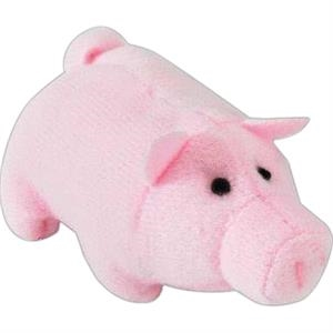 Weebeans (tm) Animal Fair - Pig - Three Inch Plush Toy Animal With Silver Ball Chain, Blank