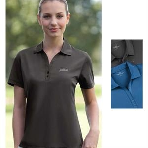 Vansport (tm) - 2 X L - 3 X L - Women's Nailhead Polo Shirt Made Of 100% Polyester