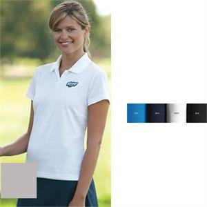 Adidas (r) Climalite (r) - 2 X L - Women's Textured Short Sleeve Polo Shirt With Rib Knit Collar