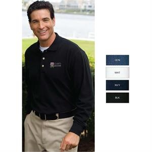Enterprise -  X Lt - Long Sleeve Pique Polo Shirt
