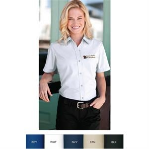 2 X L-3 X L - Women's Blended Poplin Short Sleeve Shirt
