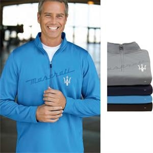 X S- X L - Brushed Back Micro-fleece Pullover With 1/4-zip