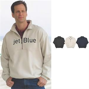 2 X L-3 X L - Half Zip Jersey Fleece With Zip Neck Front And Rib-knit Cuffs