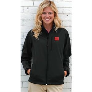 Quantum Zocket (tm) Vantek (tm) - 2 X L-3 X L - Women's 100% Polyester Bonded Poplin With Fleece Jacket