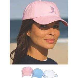 Women's Lightweight Twill Cap With Velcro Back Closure