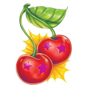 "2"" X 2"" - Two Star Cherry Tattoo"