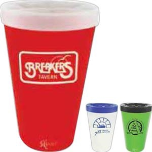 Silipint (r) - Lid For 16 Oz Silicone Pint Glass Tumbler. Blank