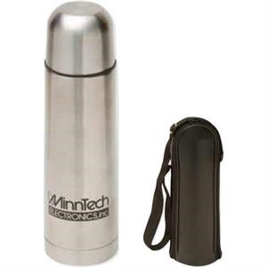 Thermo-go - 17 Oz Stainless Bottle With Pop-off Stainless Lid