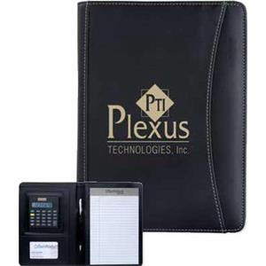 Junior Executive Crescent - Padfolio Includes Solar Powered Calculator And Lined Note Pad