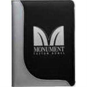 Junior Executive - Black Padfolio With Stitched Inside Slip Pocket With Mesh Pocket