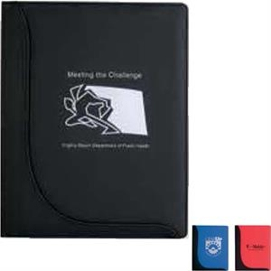 Executive L-curve - Padfolio With Inside Pocket And Elastic Pen Loop