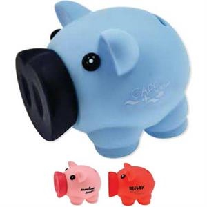 Two Tone Piggy Bank With Rubber Pull Off Nose