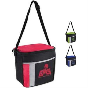 6 Pack Color Block Cooler Bag
