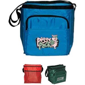Cooler Bag With Strap And Zippered Pocket. Hold 12 Bottles Or Cans