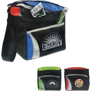 Wave - Six Pack Cooler With Zippered Flip Top With Outer Pocket